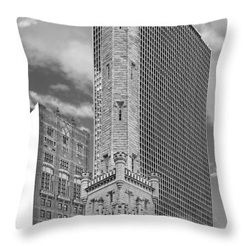 Chicago - Old Water Tower Throw Pillow