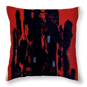 Throw Pillow featuring the painting Chicago On Red by John Williams