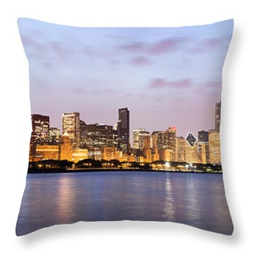 Chicago Panorama Throw Pillow by Paul Velgos