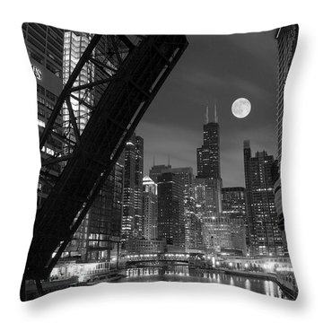 Chicago Pride Of Illinois Throw Pillow by Frozen in Time Fine Art Photography