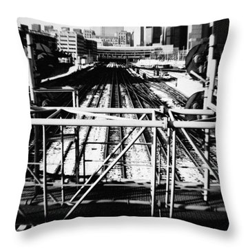 Chicago Railroad Yard Throw Pillow