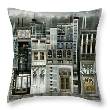 Chicago Reconstruction 1 Throw Pillow