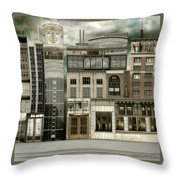 Chicago Reconstruction 2 Throw Pillow