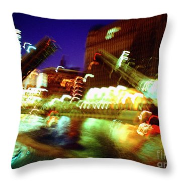 Chicago River Bridge #1  Throw Pillow