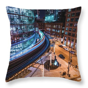 Chicago S Train Throw Pillow