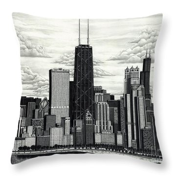 I Love Chicago Volume 1 Throw Pillow