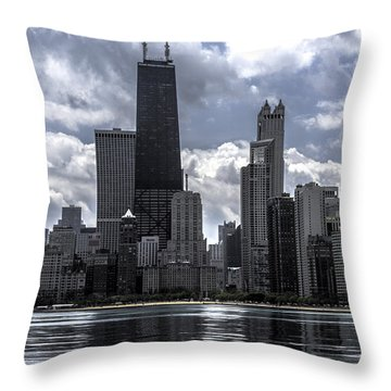 Chicago Skyline Ver3 Throw Pillow by Raymond Kunst