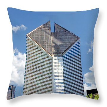 Throw Pillow featuring the painting Chicago Smurfit-stone Building by Christopher Arndt