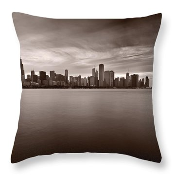 Chicago Storm Throw Pillow by Steve Gadomski