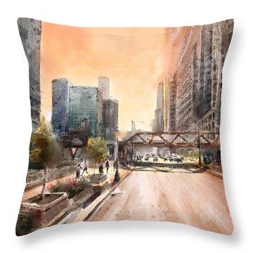 Chicago Street 2 Throw Pillow
