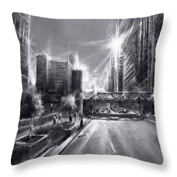 Chicago Street 4 Throw Pillow