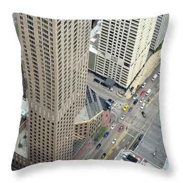 Chicago Streets Throw Pillow