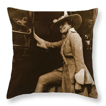 Chicago Suffragette Marching Costume Throw Pillow by Padre Art