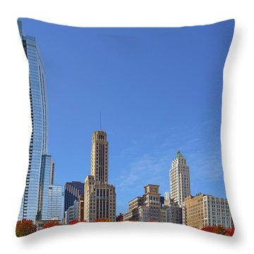 Chicago The Beautiful Throw Pillow by Christine Till