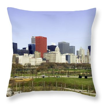 Chicago- The Windy City Throw Pillow