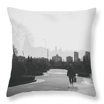 Chicago Walk Throw Pillow by Mark Burn