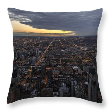 Throw Pillow featuring the photograph Chicago Westward by Steven Sparks