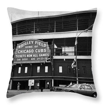 Chicago: Wrigley Field Throw Pillow