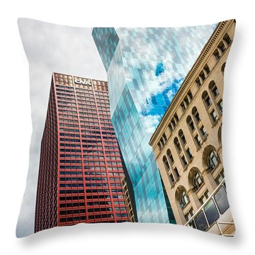 Chicago's South Wabash Avenue  Throw Pillow by Semmick Photo