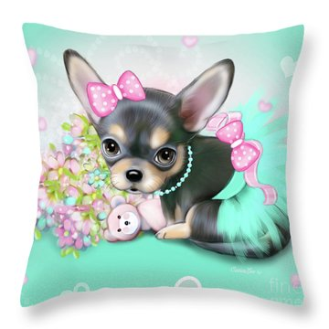 Chichi Sweetie Throw Pillow