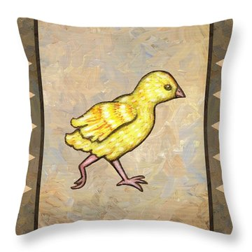 Chick Four Throw Pillow by Linda Mears