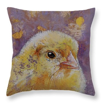Chick Throw Pillow by Michael Creese