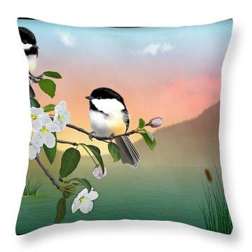 Chickadee Lake Throw Pillow