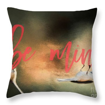 Throw Pillow featuring the photograph Chickadee Love by Darren Fisher