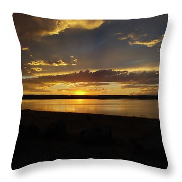 Chickahominy  Throw Pillow by Linda Larson