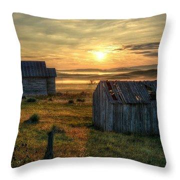 Chicken Creek Schoolhouse Throw Pillow