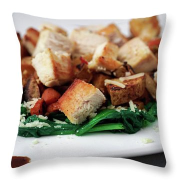 Throw Pillow featuring the photograph Chicken N Hash by Ryan Smith