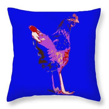 Chicken With Tall Legs Throw Pillow