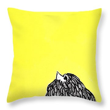 Chickens Four Throw Pillow by Jason Tricktop Matthews