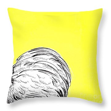 Chickens Two Throw Pillow by Jason Tricktop Matthews