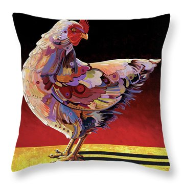 Chickenscape II Throw Pillow