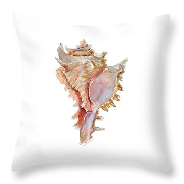 Chicoreus Ramosus Shell Throw Pillow