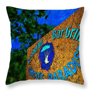 Chico's Paradise Throw Pillow by Paul Wear