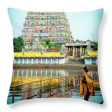 Chidambaram Temple Lord Shiva India Throw Pillow