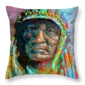 Chief 2 Throw Pillow