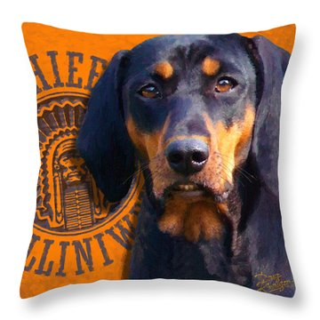 Throw Pillow featuring the painting Chief by Doug Kreuger