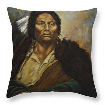 Chief Gall Throw Pillow