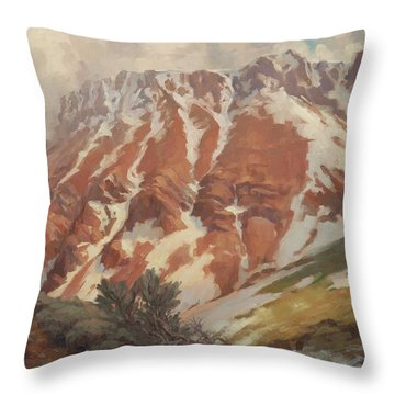 Chief Joseph Mountain Throw Pillow
