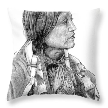 Chief Joseph Of Nes Perce Throw Pillow