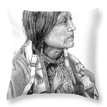 Chief Joseph Of Nes Perce Throw Pillow by Bill Hubbard