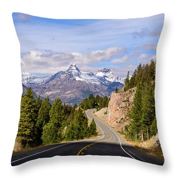 Chief Joseph Scenic Highway Throw Pillow