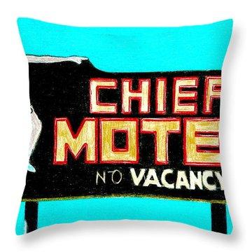 Chief Motel Throw Pillow