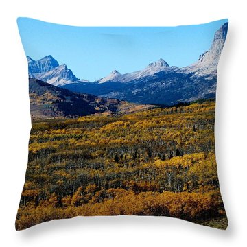 Chief Mountain In The Fall Throw Pillow