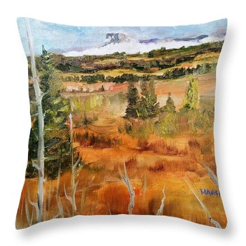 Chief Mountain Throw Pillow