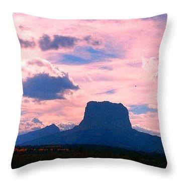 Chief Mountain, Pastel Throw Pillow