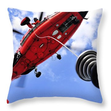 Throw Pillow featuring the photograph Chief Petty Officer Looks Out The Door by Stocktrek Images